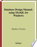 Database Design Manual Using Mysql For Windows