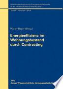 Energieeffizienz im Wohnungsbestand durch Contracting