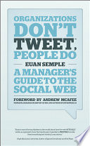 Organizations Don t Tweet  People Do