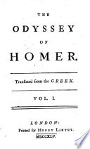 The Odyssey of Homer ; Translated from the Greek