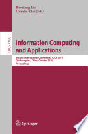 Information Computing And Applications book