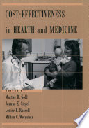 Cost Effectiveness In Health And Medicine