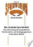 Die deutsche Sporteinheit