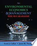 Environmental Economics and Management  Theory  Policy  and Applications