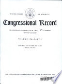 Congressional Record Index Volume 156 A K L Z