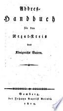 Addreß-Handbuch für den Rezatkreis des Königreichs Baiern