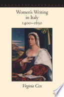 Women s Writing in Italy  1400   1650