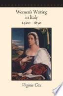 Women's Writing in Italy, 1400–1650