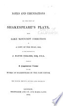 Ebook Notes and emendations to the text of Shakespeare's plays Epub John Payne Collier Apps Read Mobile