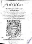 Delle imprese trattato di Giulio Cesare Capaccio