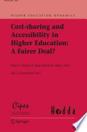 Cost sharing and Accessibility in Higher Education  A Fairer Deal