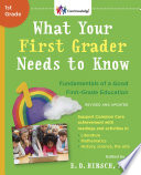 What Your First Grader Needs To Know Revised And Updated