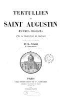 Book Tertullien (Apologétique) et st. Augustin (La cité de Dieu).
