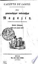 GAZETTE DE SANTÉ: Oder gemeinnütziges medicinisches Magazin