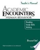 Academic Encounters  Human Behavior Teacher s Manual