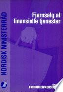 Fjernsalg af finansielle tjenester