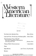 Western American Literature