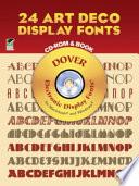 24 Art Deco Display Fonts