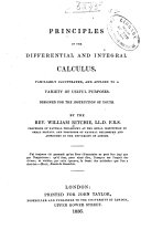 Principles of the differential and integral calculus