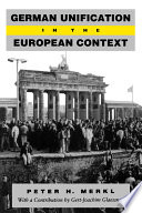 German Unification in the European Context