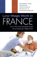 Low Wage Work in France