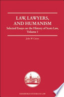 Law Lawyers And Humanism book
