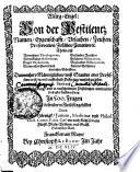 Würg-Engel: Von der Pestilentz Namen, Eygenchafft, Vrsachen, Zeichen, Praeservation, Zufallen, Curation, [et]c