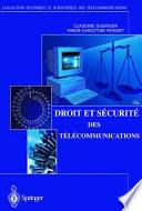 Droit Et S Curit Des T L Communications