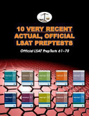 10 Very Recent Actual  Official LSAT Preptests  Official LSAT Preptests 61 70  Cambridge LSAT