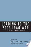 Leading to the 2003 Iraq War
