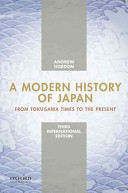 A Modern History Of Japan International Edition