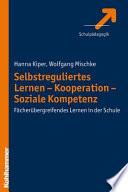 Selbstreguliertes Lernen, Kooperation, soziale Kompetenz