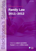 Blackstone s Statutes on Family Law 2011 2012