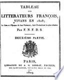 Tableau des   crivains fran  ais