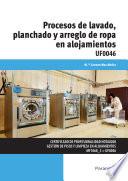 Procesos de lavado  planchado y arreglo de ropa en alojamientos