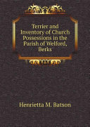 download ebook terrier and inventory of church possessions in the parish of welford, berks pdf epub