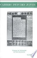 Cahiers d   tudes juives