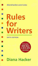 Rules for Writers / Rules for Writers Developmental Exercises