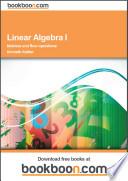 Linear Algebra I
