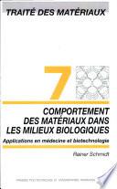 Comportement des mat  riaux dans les milieux biologiques