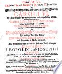 Carolus VI. Dei gratia gloriosus in orbe imperator. Oder, glorreichiste Regierung, und unvergleichliche Thatten Caroli VI. ... Worbey zugleich Alles was von Anfang dises lauffenden Sæculi bis auf gegenwärtiges 1721. Jahr, merckwürdiges in Europa geschehen ... beygebracht wird, etc