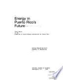 Energy In Puerto Rico S Future book
