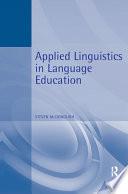 Applied Linguistics in Language Education