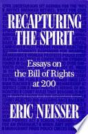 Recapturing the Spirit Supreme Court Decisions Have Interpreted The