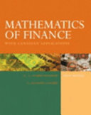 Mathematics Of Finance With Canadian Applications