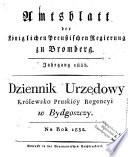 Amtsblatt der K  niglichen Preu  ischen Regierung zu Bromberg