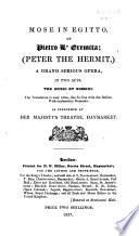 Mose In Egitto Or Pietro L Ermita
