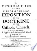 A Vindication of the bishop of Condom s expositio of the doctrine of the catholic church
