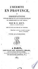 L hermite en province  ou  Observations les meurs et les usages fran  ais au commencement du xix e si  cle