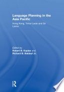 Language Planning in the Asia Pacific